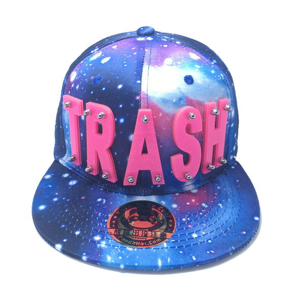 TRASH HAT GALAXY BLUE PINK