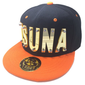 TSUNA HAT IN BLACK WITH ORANGE BRIM