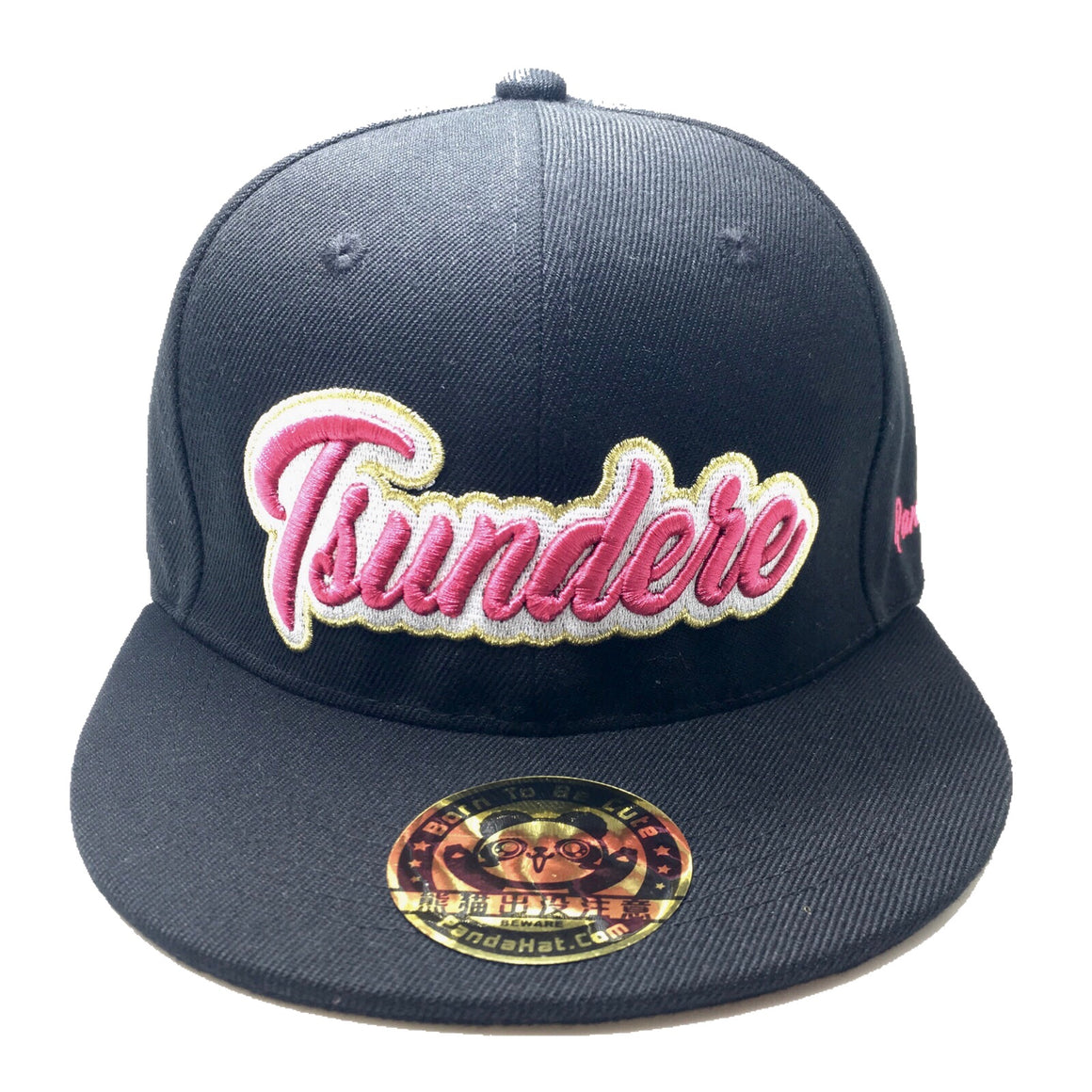 TSUNDERE CURSIVE 3D PUFF EMBROIDERY HAT