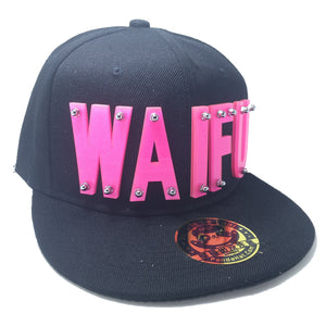 WAIFU HAT BLACK PINK LEFT