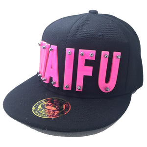 WAIFU HAT BLACK PINK RIGHT