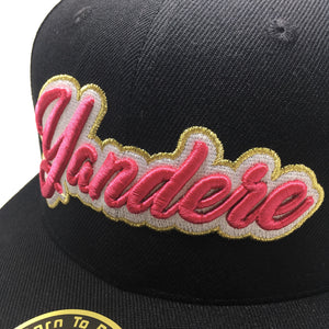 YANDERE CURSIVE 3D PUFF EMBROIDERY HAT