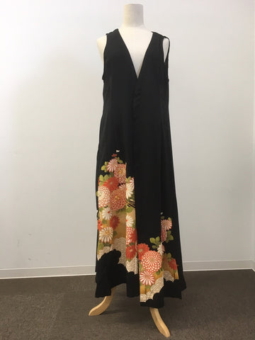 Kurotome Sode  Long Cardigan