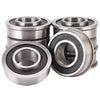 "XiKe 8 Pack ID 5/8"" x OD 1-3/8"" Flanged Ball Bearing, Lawn Mower, Wheelbarrows, Carts & Hand Trucks Wheel Hub for Suitable, Replace JD, MTD, Stens and Marathon. - XiKe Bearing"