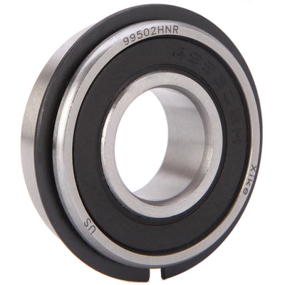 "XiKe 10 Pack 99502HNR Ball Bearing ID 5/8"" x OD 1-3/8"" x Width 7/16"", Double Seal and Snap Ring, Stable Performance and Cost-Effective, Replace Go Kart,  Mower Wheel and More. - XiKe Bearing"