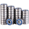 32 Pack 608-2RS Skateboard Bearings 8x22x7mm - XiKe Bearing