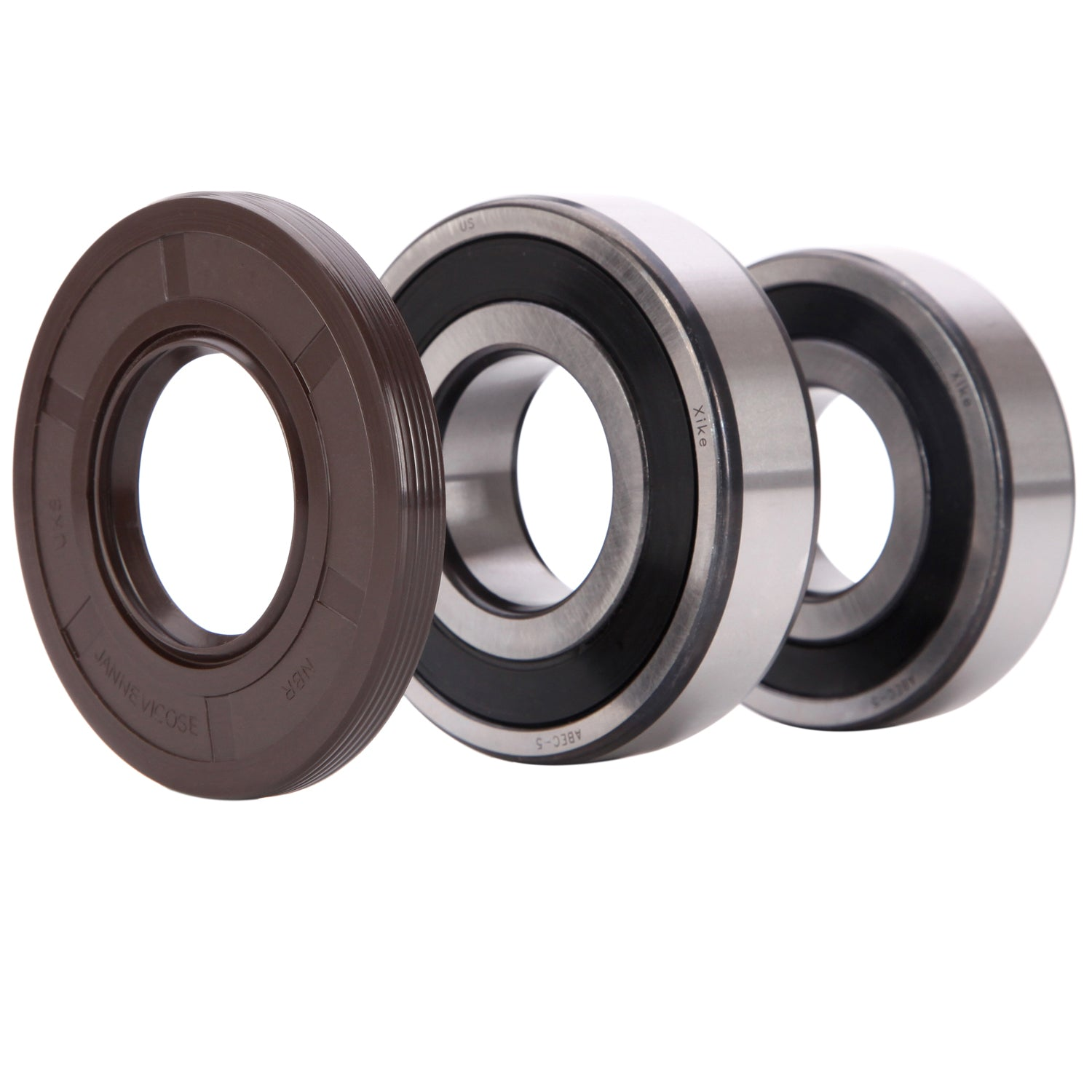 Replacement for Samsung WF328AAG WF328AAR WF328AAW WF337AAR. XiKe DC97-12957A and DC69-00804A Washer Tub Bearing & Seal Kit Rotate Quiet and Durable