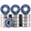 16 Pack 608-2RS Skateboard Bearings 8x22x7mm - XiKe Bearing