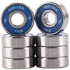 8 Pack 608-2RS Skateboard Bearings 8x22x7mm - XiKe Bearing