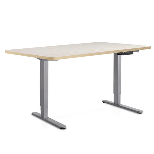 140cm Motorised Electrical Adjustable Frame Standing Desk - White Grey