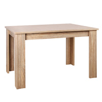 Rectangular 4 Seater Dining Table Natural Wood