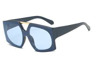 Flat Lens Oversized Sunglasses