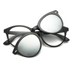 Simple Round Clip-on Glasses