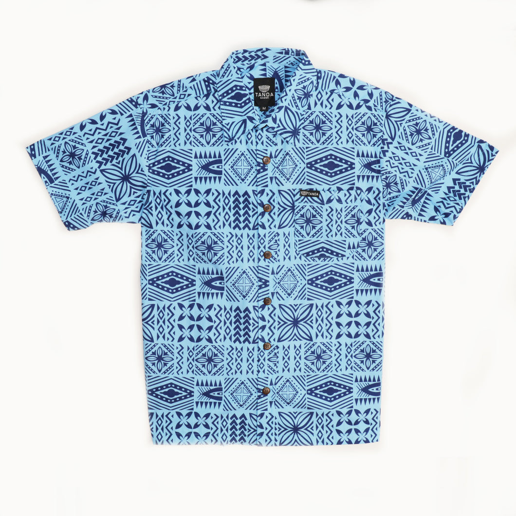 Boys Cotton Shirt- Navy