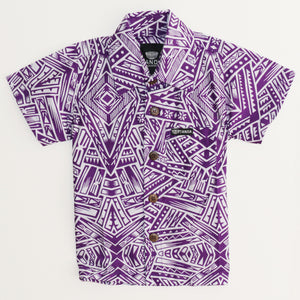 Boys Cotton Shirt- Purple/FB256