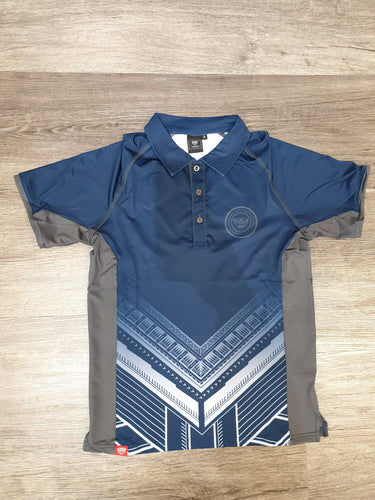 Tanoa Samoa Sublimated Polo Shirt - PM393 -Inky Blue