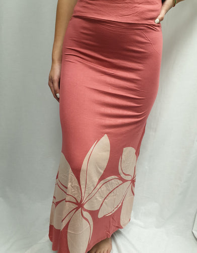 Maxi skirt/dress DOUBLE PUA - LS481 - Rose