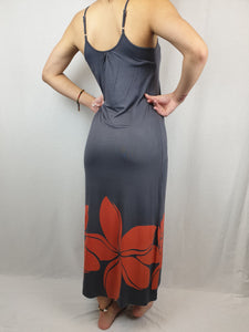 Ladies Maxi Dress Double -LD002SA - Grey/Red
