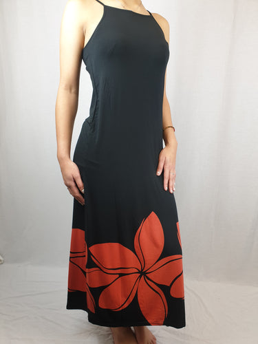 Ladies Maxi Dress Double -LD002SA - Black/Red