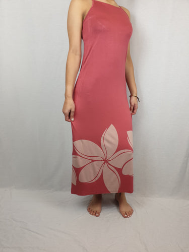 Ladies Maxi Dress Double -LD002SA - Rose