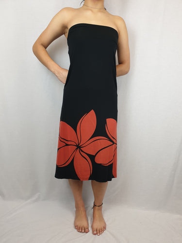 Maxi Skirt/Dress DOUBLE PUA - LS481 - Black/Red