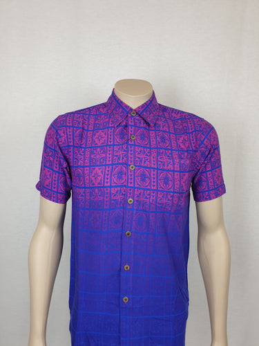 Men's East Coast Rayon Shirt Vevesi- SS1301/ Blue Plum