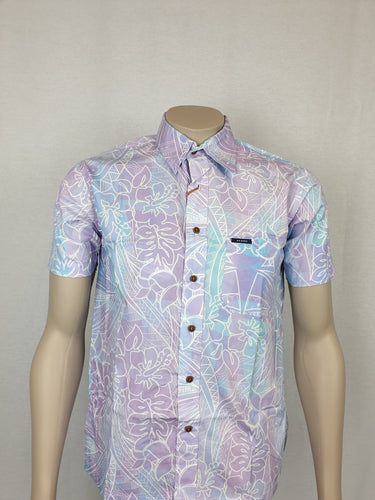 Akamu Men's Bula Shirt-SS1825-LT Purple