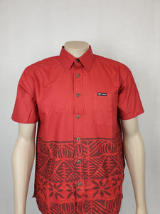 Mens Slub Bula Shirt- SS1372/ Red
