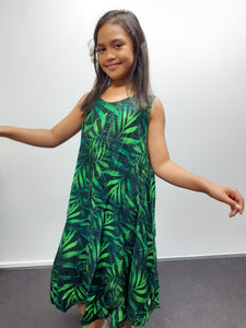 LG871 Girls Dress Green