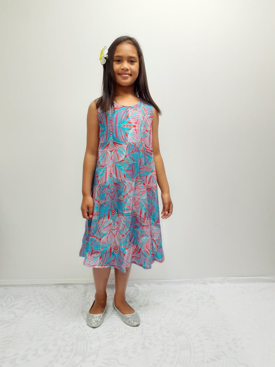 LG872 Girls Dress Coral Blue