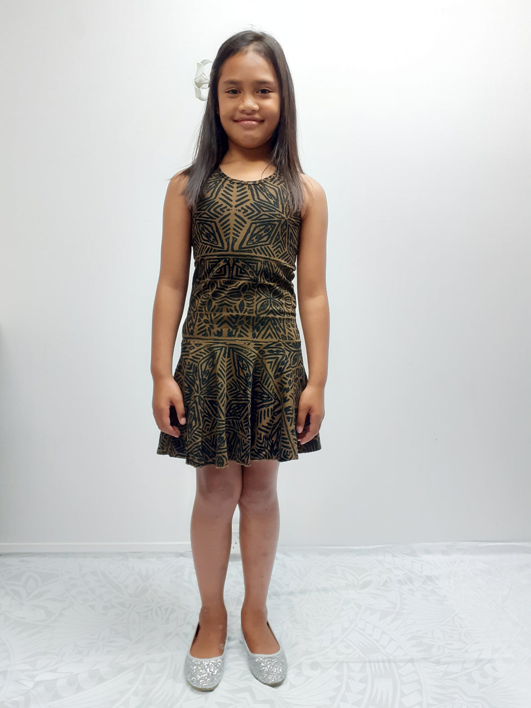 Girls dress LG972 Olive