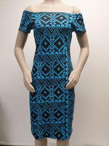 Ladies Stretch Dress LD1609 Blue