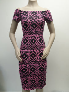 Ladies Stretch Dress LD1609 Pink