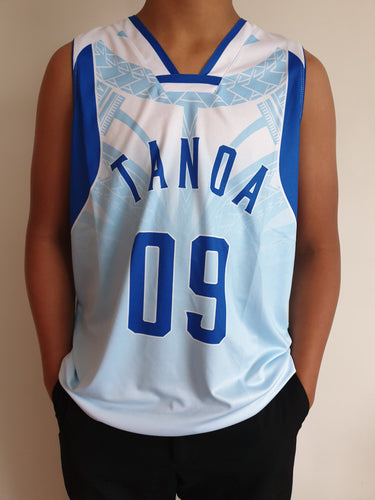 Tanoa Basketball Vest Uso - TM1905 S/White