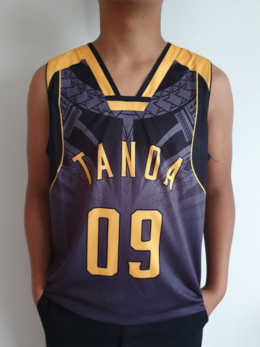 Tanoa Basketball Vest Uso - TM1905 Charcoal