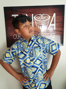 Tanoa Boys Bula Shirt-SB892-Cream