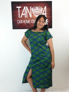 LADIES DRESS LD1246 NAVY GREEN