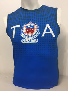 Toa Sleeveless - Half Tone T71604/Blue