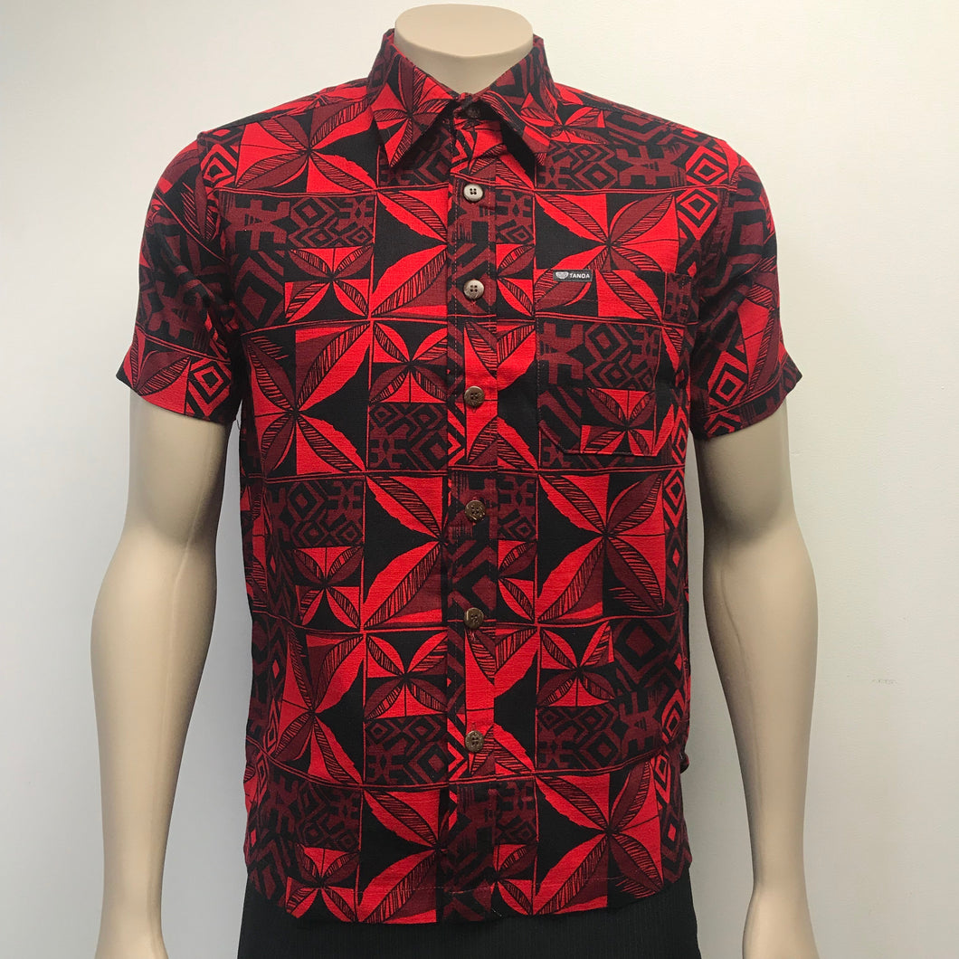 Men's Shirt SS2072 Red
