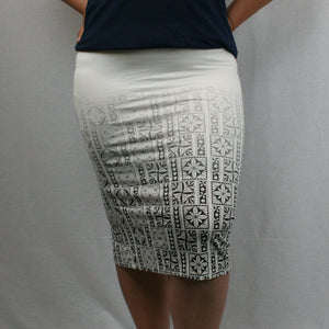 Sialei Matagofie Skirt- Ls475-TS/ Ombre White