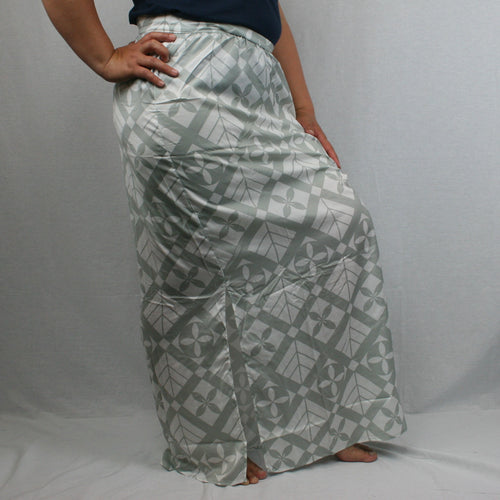 Sialei Taimane Skirt- LS474-TS/ White/ Grey