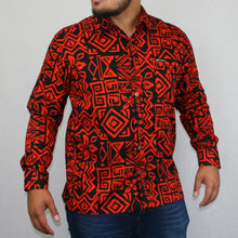 Mens L/S Shirt - SL956 -TS BLACK ORANGE