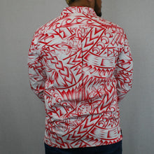 Mens L/S Shirt - SL957 -TS WHITE RED