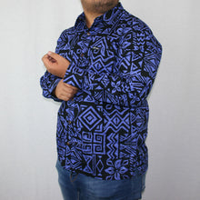 Mens L/S Shirt - SL956 -TS BLACK PURPLE