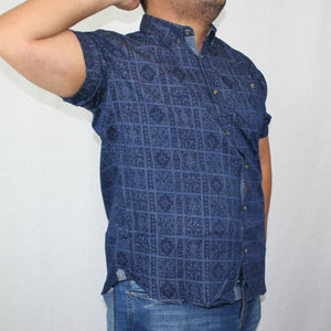 Men's Chambray Shirt- SS1228/ Denim Stars