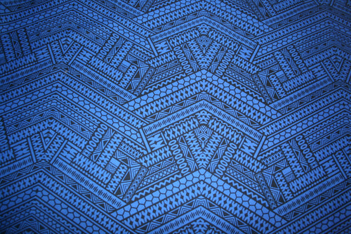 Dark Blue Fijian Taste Fabric