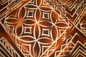 Tree Brown Tapa Fabric