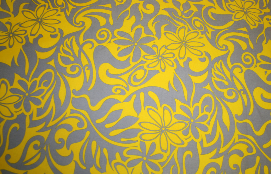 Yellow Pua Fabric