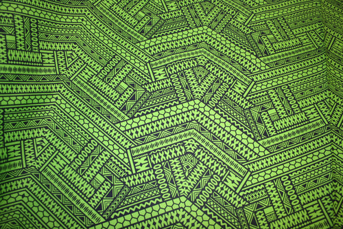 Green Fijian Taste Fabric