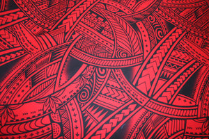 Red Va'afaila Fabric
